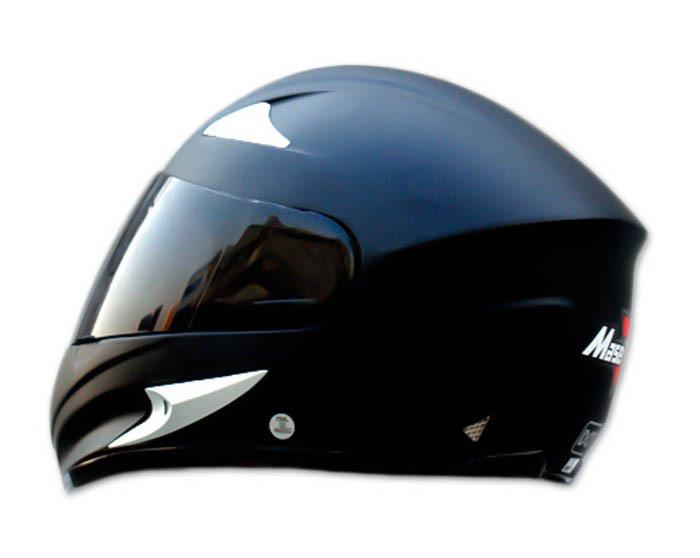 Masei 816 Matt Black Motorcycle Helmet image 2