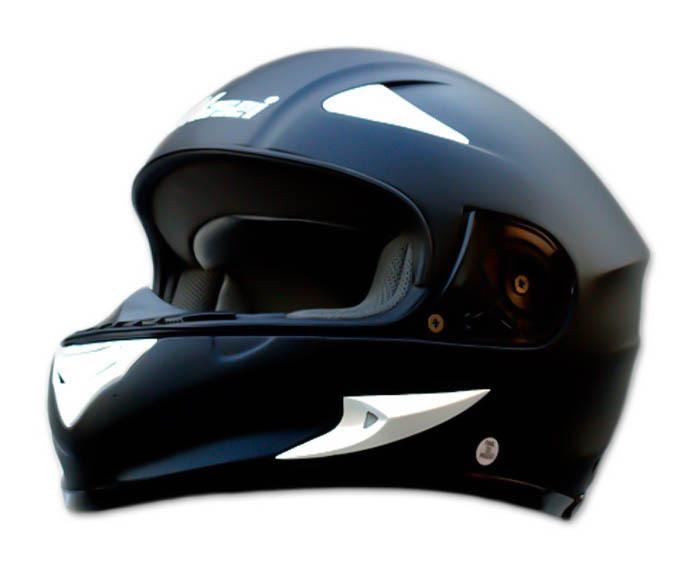 Masei 816 Matt Black Motorcycle Helmet image 10