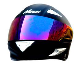 Masei 816 Matt Black Motorcycle Helmet image 7