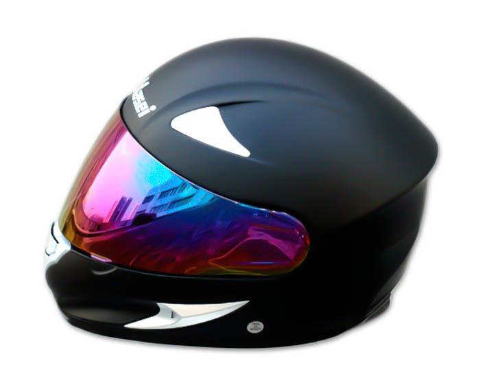 Masei 816 Matt Black Motorcycle Helmet image 8