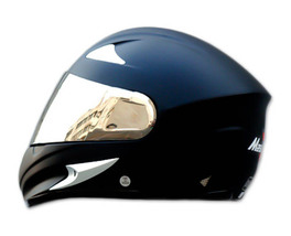 Masei 816 Matt Black Motorcycle Helmet image 6