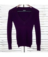 Express | Deep V-Neck Fitted Sweater Ribbed - $20.00