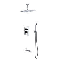 "Aqua Piazza Shower Set w/12"" Ceiling Mount Rain Shower, Handheld and Tub... - $419.00"