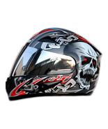 Masei 816 Silver Skull Motorcycle Helmet - $199.00