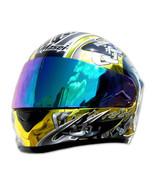 Masei 816 Gold Chrome Skull Motorcycle Helmet - $499.00
