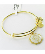Alex & Ani A14EB92YG Fortune's Bliss Sweet Pea EWB Bracelet Shiny Gold NWT - $29.10