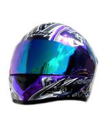 Masei 816 Purple Chrome Skull Motorcycle Helmet - $499.00