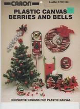 Plastic Canvas Berries and Bells Caron CN0136 6 Designs - $4.00