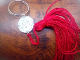 Third Pentacle of Mars Key ring .For enemies. Vau. Qabalistic . Eloah .S... - $19.99