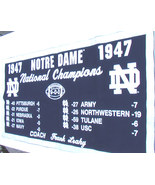 Notre Dame 1947 National Champions Football Banner - $75.00