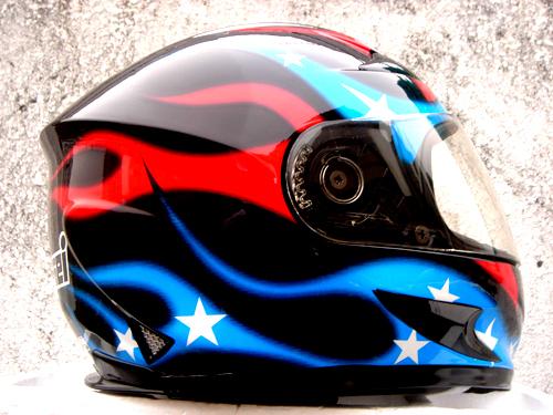 Masei 816 USA Flag Motorcycle Helmet image 3