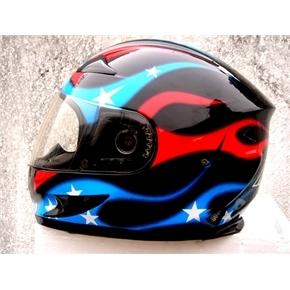Masei 816 USA Flag Motorcycle Helmet image 2