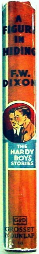 Hardy Boys #16 A Figure in Hiding 1950C-20 hcdj orange Gretta eps Franklin Dixon