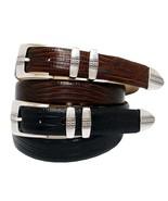 """Brandon Men's Italian Leather Designer Dress Belt 1-1/8"""" Wide, Black Brown - $573,06 MXN"""