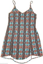 Urban Outfitters Bohemian Bones Festival Print Relaxed Fit Shift Dress sz S - £29.76 GBP