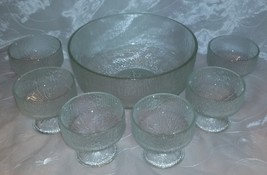Indiana Glass CRYSTAL ICE- DESSERT/Sherbet and ... - $23.99