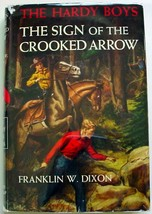 Hardy Boys #28 The Sign of the Crooked Arrow 1954A-8 hcdj orange Gretta eps - $10.00