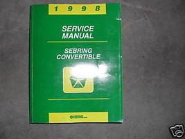 1998 Chrysler Sebring Convertible Service Shop Repair Manual FACTORY OEM BOOKS - $49.59