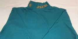 Jacksonville Jaguar Long Sleeve Wide collar T-Shirt Medium NFL Gold Embr... - $14.24