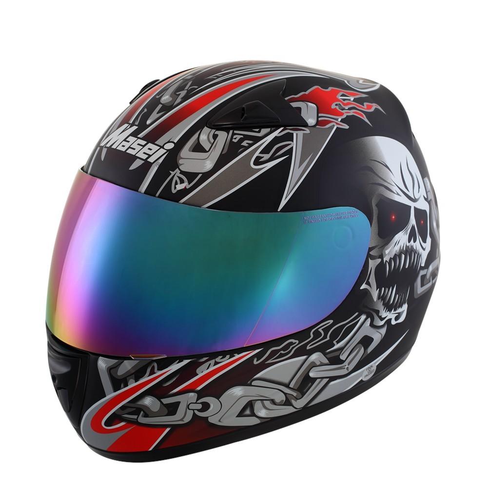 Masei 820 Black Skull Motorcycle Helmet