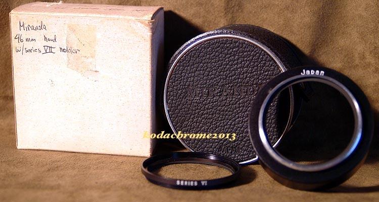 Miranda SLR Metal Lens Hood 46MM, Filter Ring VI, Case + Box-Mint