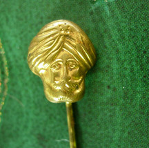 Antique Fortune Teller STICKPIN Vintage gold Genie Crystal Ball Men's Ca... - $165.00