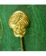 Antique Fortune Teller STICKPIN Vintage gold Genie Crystal Ball Men's Ca... - $165.00