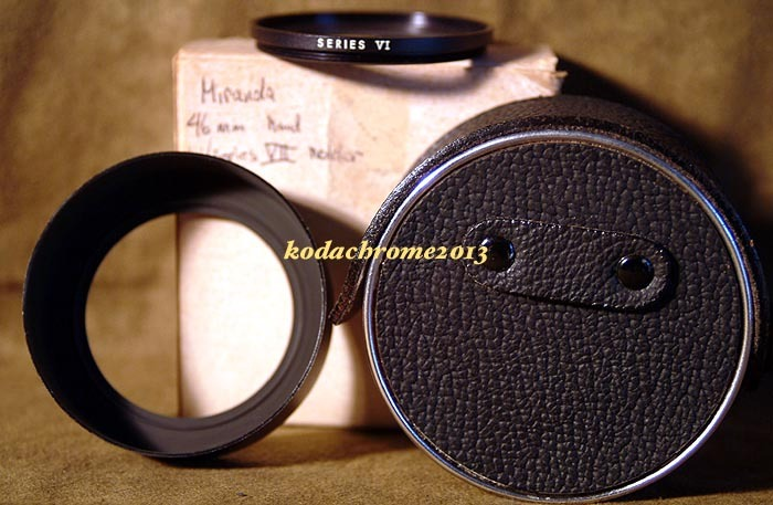 Miranda SLR Metal Lens Hood 46MM, Filter Ring VI, Case + Box-Mint