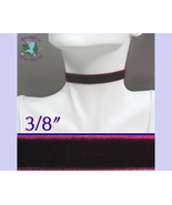 Wine VELVET Choker 3/8 inch 10 mm wide Custom Size USA burgundy maroon v... - $5.50