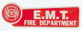 Fire Department E.M.T. Highly Reflective Vinyl Decal With Maltese Cross - $1.49