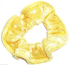 Golden Yellow Panne Velvet Hair Scrunchie Scrunchies by Sherry Ponytail Holder - $6.99