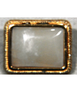 Vintage Rectangle Gold Tone MOP Mother of Pearl Signed ITALY Brooch, Lap... - $19.99