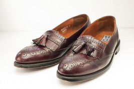 Bostonian 11.5 Narrow Brown Burgundy Tassel Loafers Men's Dress Shoe - $55.60