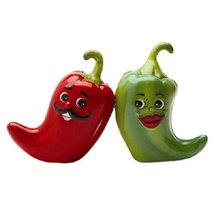 1 X Hot Chili Peppers Magnetic Salt & Pepper Shakers S/P - $12.86