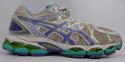 Asics Gel Nimbus 16 Women's Running Shoes Size US 9 M (B) EU 40.5 White Purple