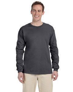 Primary image for Dark Heather L Long sleeve Gildan ultra cotton T-shirt 2400 G240 G2400