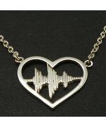 I Love You Sound Wave Necklace - Soundwave Necklace - Sound Wave Jewelry... - $52.00