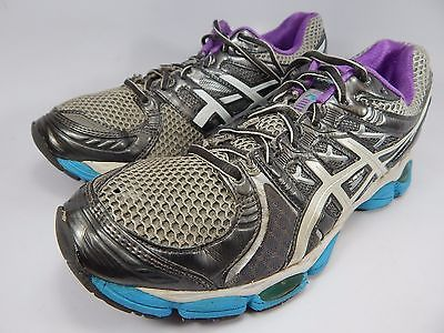 Asics Gel Nimbus 14 Women's Running Shoes Size US 10 M (B) EU 42 Silver White