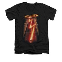 Simply Superheroes Mens the flash tv show flash ave slim fit v-neck t shirt M... - $26.99