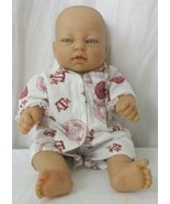 """BERENGUER 14"""" REALISTIC VINYL BABY DOLL BLUE EYES AGGIES OUTFIT - $24.74"""