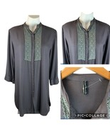 Sacred Threads Button Crocheted Cottagecore Lace Tunic Top Free One Size - $14.00