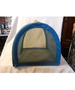 Small Dog or Cat Foldable Soft Carrying Tote Blue with carrying handle - $25.99