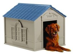 Dog House Large  Roof & Floor up to100lbs Outdoor All Weather FREE Doors    - $107.87
