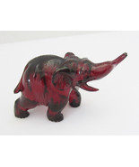 ANTIQUE Exquisite Small Hand Carved Cherry Amber ELEPHANT Statue - $1,150.00