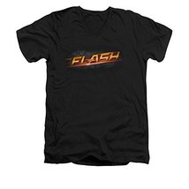 Simply Superheroes Mens the flash tv show logo slim fit v-neck t shirt Mens S... - $26.99