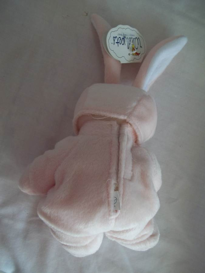 "7"" Baby Theodore Bear with Pink Bunny Outfit - Wish Pets-1998,Item#31023-New"
