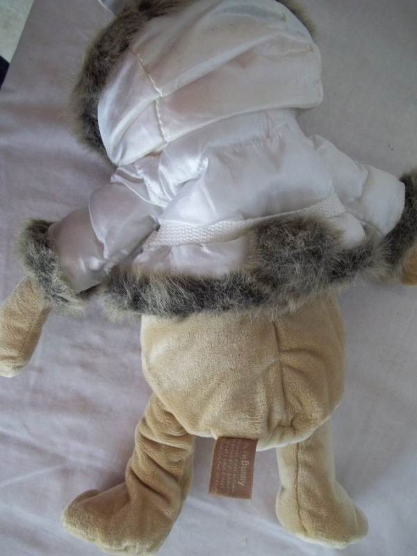 "14"" Bath & Body Works Snow Bunny Plush Bear - Complete with Jacket"