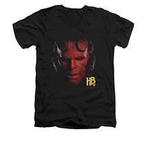 Simply Superheroes Mens hellboy head slim fit v-neck t shirt Mens Slim F... - $26.99