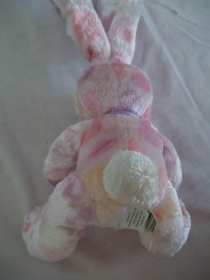 "14"" Wal-Mart Multi-Color  Bunny Stuffed -Moveable Ears"