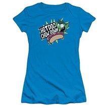 Simply Superheroes Womens chow down teen titans go juniors t shirt Juniors Large - $27.99